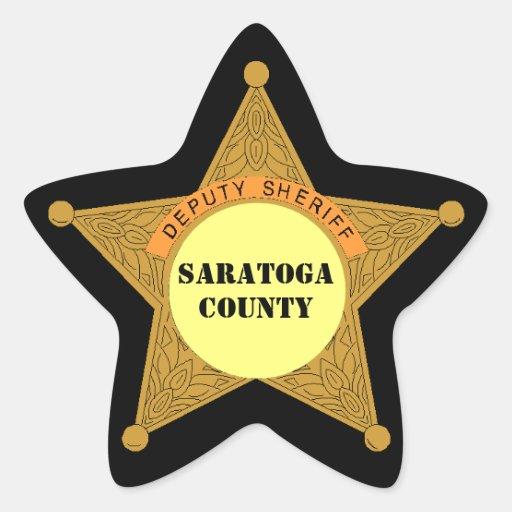 Secteur mignon de modèle d'insigne shérif adjoint  stickers en étoile