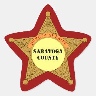 Secteur mignon de modèle d'insigne shérif adjoint sticker étoile
