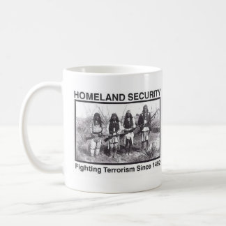 Sécurité de patrie indienne de photo blanche mug