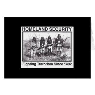 Sécurité de patrie indienne de photo noire cartes