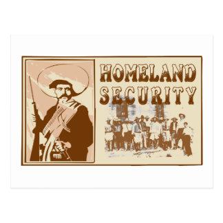 Sécurité de patrie mexicaine carte postale