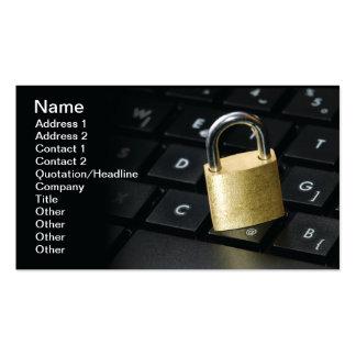 Sécurité d'Internet Cartes De Visite Personnelles