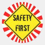 sécurité première autocollants