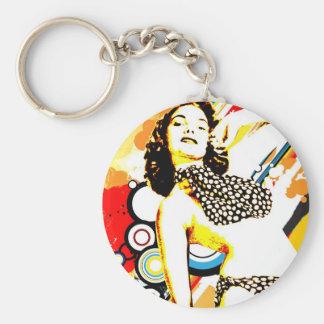 Séduction nostalgique - polka Dottie Porte-clés