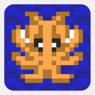 Seiches de pixel de camouflage de jaune de seau de sticker carré