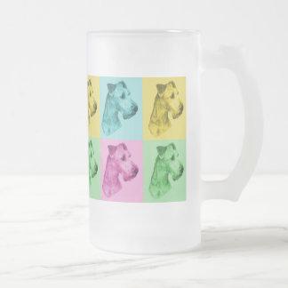 "Seidel en verre irlandais terriers «pop-art "" mug en verre givré"
