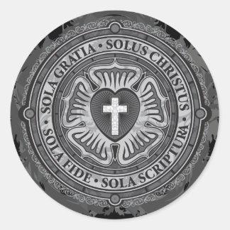 """Seigneur chrétien """"CHRÉTIEN de Jésus de rose de Sticker Rond"""