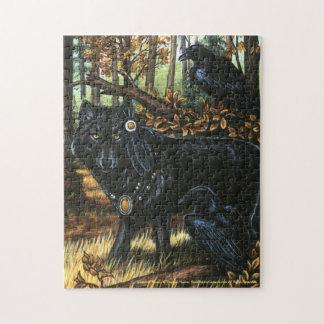 Seigneur de puzzle noir de loup de Ravens