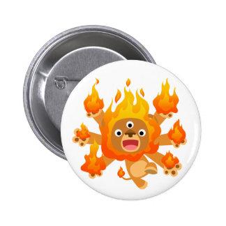 Seigneur du feu ! ! insigne de bouton (de lion mig badge