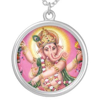 Seigneur Ganesha de danse Pendentif Rond