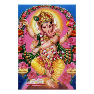 Seigneur Ganesha de danse Poster