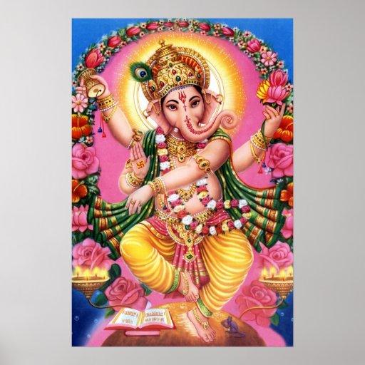Seigneur Ganesha de danse Posters
