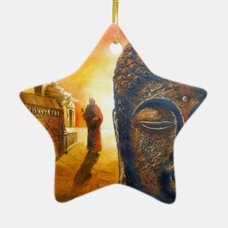 Seigneur Gautama Buddha Ornement Étoile En Céramique