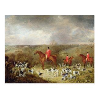 Seigneur Glamis et ses chiens d'équipage, 1823 Carte Postale