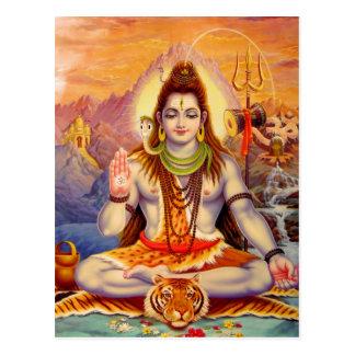 Seigneur Shiva Meditating Postcard Carte Postale