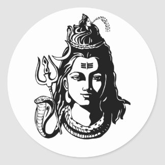 Seigneur Shiva Sticker Rond