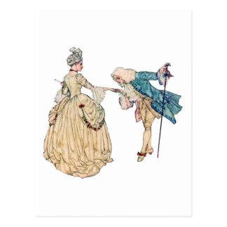 Seigneur victorien et Madame Illustration Cartes Postales
