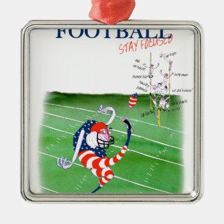 Séjour du football focalisé, fernandes élégants ornement carré argenté