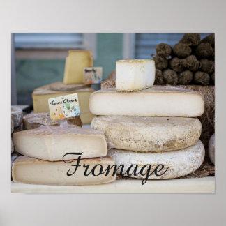 Sélection française rustique de fromage poster