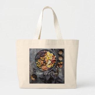 Sélection italienne de nourriture grand tote bag