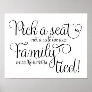Sélectionnez une craie de siège et scintillez affiches