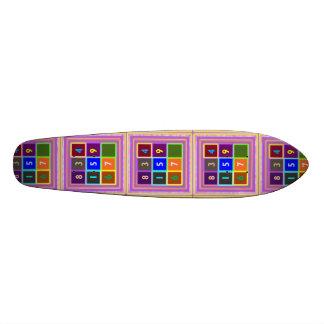 Sélections graphiques artistiques plateau de planche à roulettes