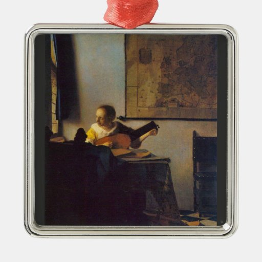 Selon le joueur par Johannes Vermeer Décorations De Noël