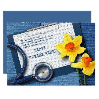 Semaine heureuse d'infirmières. Cartes de voeux