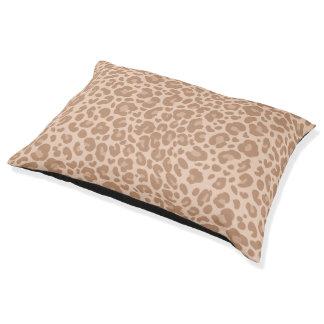 Sembler de peau de léopard élégant lit pour chien