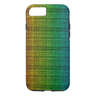 Sembler de tissu de tweed d'arc-en-ciel modelé coque iPhone 7