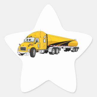 Semi bande dessinée de jaune de bateau-citerne de sticker en étoile