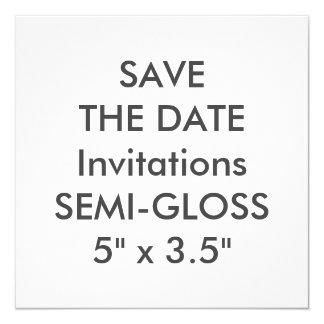 """SEMI-LUSTRE 110lb 5,25"""" invitations carrées de"""