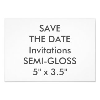 """SEMI-LUSTRE 110lb 5"""" x 3,5"""" invitations de mariage"""