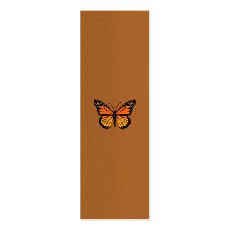 Sensation de papillon de monarque carte de visite petit format