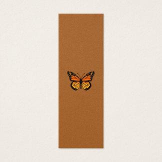 Sensation de papillon de monarque mini carte de visite