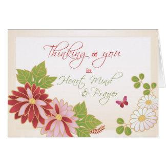 Sensation mieux, fleurs de papillon religieuses cartes