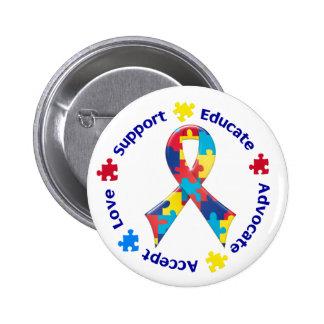 Sensibilisation sur l'autisme badge