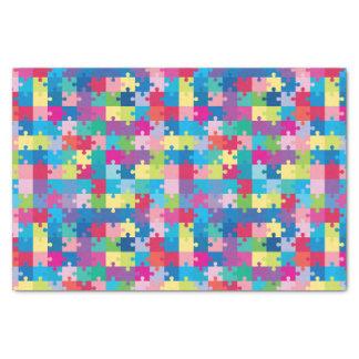 Sensibilisation sur l'autisme de motif de puzzle papier mousseline