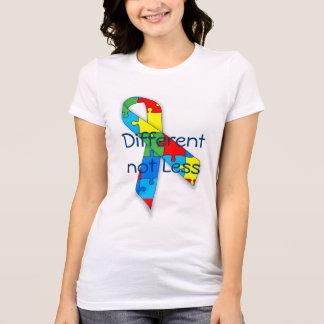 Sensibilisation sur l'autisme différente non moins t-shirt