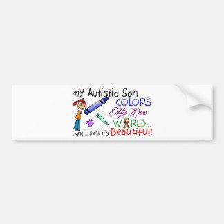 Sensibilisation sur l'autisme - fils autocollant de voiture