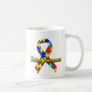 Sensibilisation sur l'autisme mug blanc