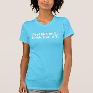 Sentez comme un F, pensez comme T. Women's T-shirt