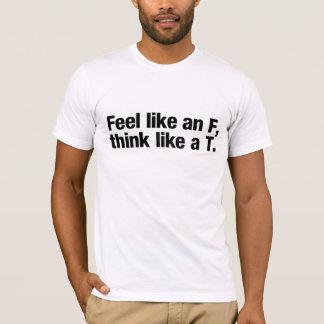 Sentez comme un F, pensez comme un T. (pour des T-shirt