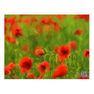 Sentiments d'été - le pavot merveilleux fleurit II Carte Postale