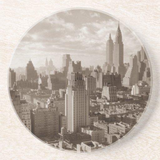 Sépia New York City Dessous De Verre