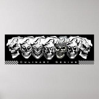 Sept crânes de chef : Génie culinaire Poster