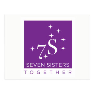 Sept de soeurs cartes postales ensemble