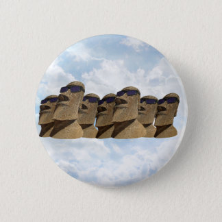 Sept hanche Moai - bouton rond Badge