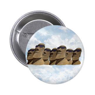Sept hanche Moai - bouton rond Badge