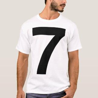 Sept helvetica pour des lumières t-shirt